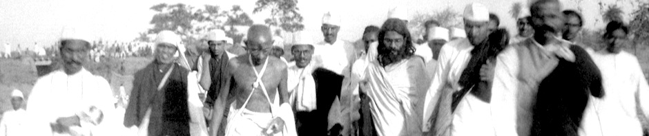 Gandhi during the Salt March