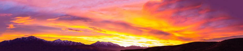 Utah Winter Sunrise Panorama